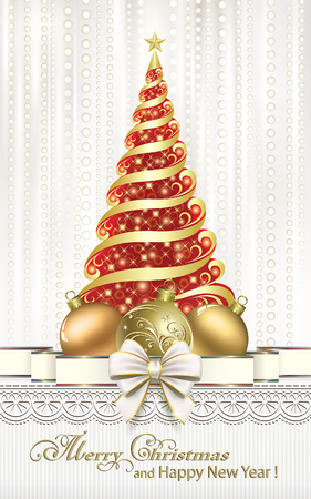 aria: Christmas card with Christmas tree