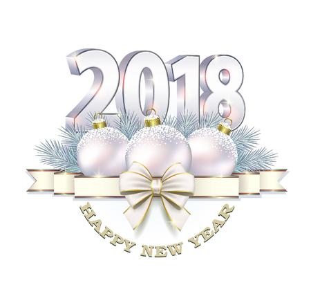 aria: Postcard 2018 New Year