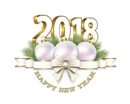 Happy new year 2018 vector illustration. Illustration