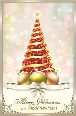 aria: Christmas tree with balls