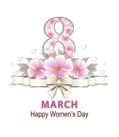 Postcard on 8 March, International Women's Day