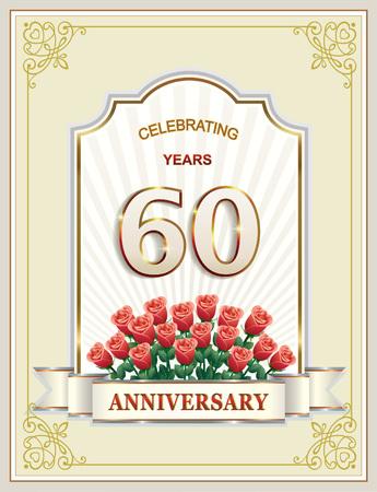 Anniversary 60 years, happy Birthday