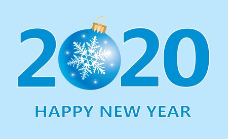 Happy New Year 2020 banner. Vector illustration