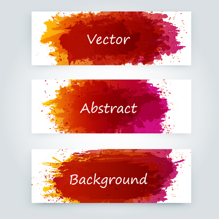 Vector abstract background with big splash and place for your text. Grunge Vector Illustration. Splatter template.