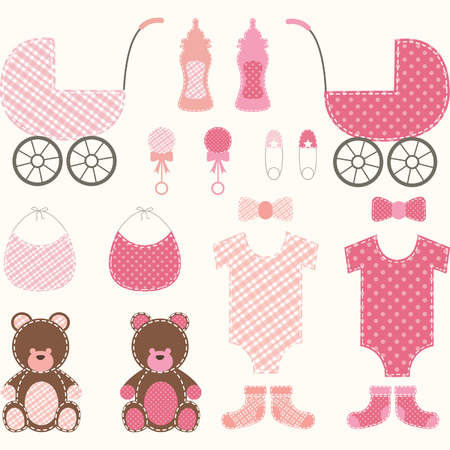 car clothes: Baby Shower Girl Set