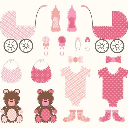 stuff toys: Baby Shower Girl Set
