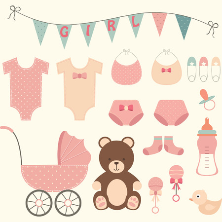 stuff toys: Baby Shower Girl