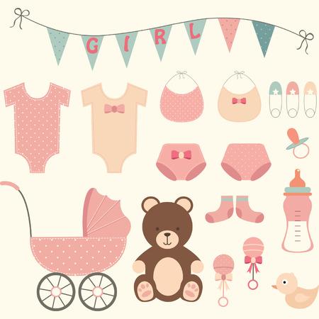 Babyparty-Mädchen- Vektorgrafik