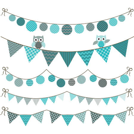 bunting flag: Bunting Owl Banner