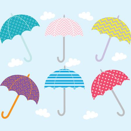 Parasol Kolekcja Ilustracje wektorowe