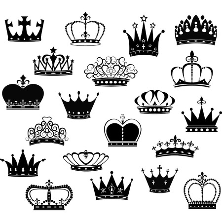 crowns: Black Crown Silhouette Collection