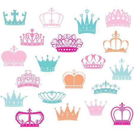 Crown SilhouettePrincess Crown  イラスト・ベクター素材