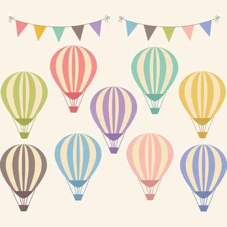 hot air: Vintage Hot Air Balloon