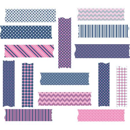 Nany and Pink Washi Tape Graphics set Stock Vector - 41510601