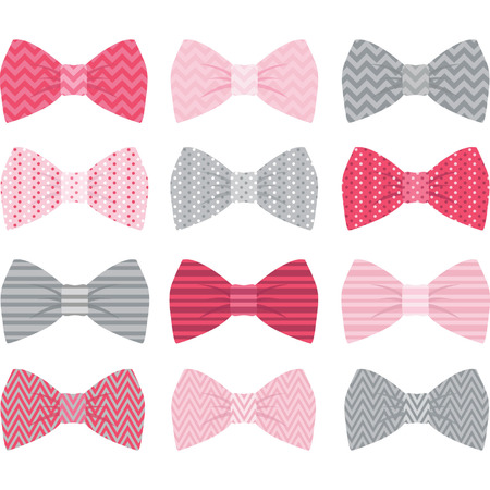 bow tie: Cute Pink Bow Tie Collection