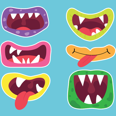 human mouth: Monster Mouths Set