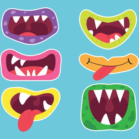 Monster Mouths Set Zdjęcie Seryjne - 41757596