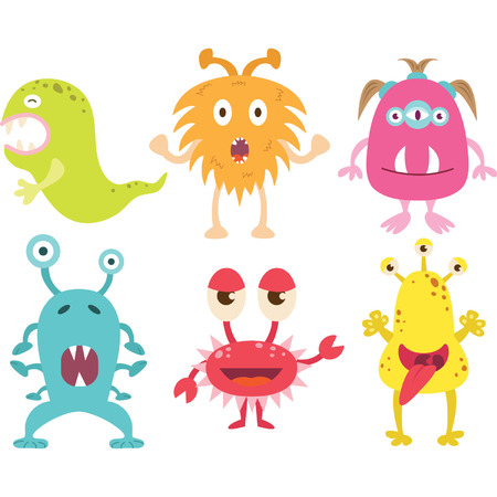Cute Moster set Stock Vector - 41757597