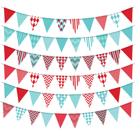 baby blue: Bunting Banner set