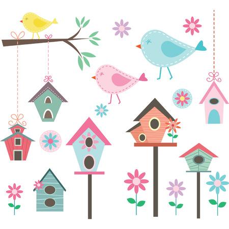 bird illustration: Little BirdBird HousesBirds and FlowersBranches Collections