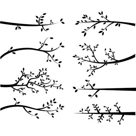 Sylwetki Branch Ilustracje wektorowe