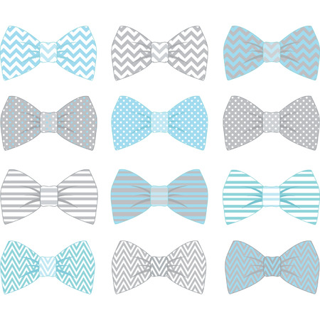 Cute Blue Bow Tie Collection