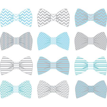 lazo regalo: Azul lindo Pajarita Colección