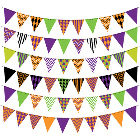 Halloween Bunting Banner Collection Stock Vector - 42305491