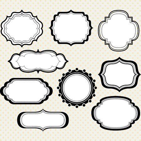 design vector: Black Digital Frames Collections Illustration