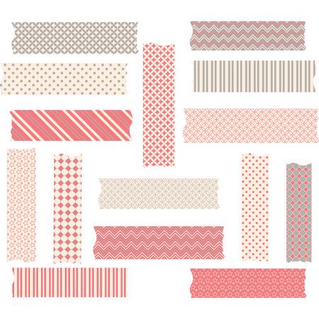 cintas: Gráficos de cinta Washi establecen Vectores