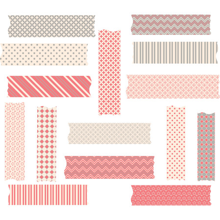 Washi Tape Graphics set Фото со стока - 42305496