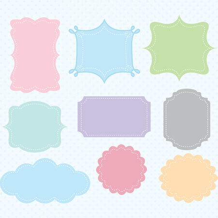 Colorful  Digital Frames Collections Illustration