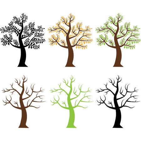 나무 실루엣 스톡 콘텐츠 - 43418157