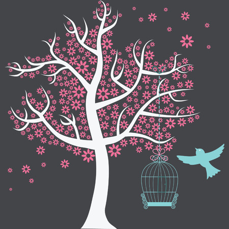 nursery room: Tree with Birdcage