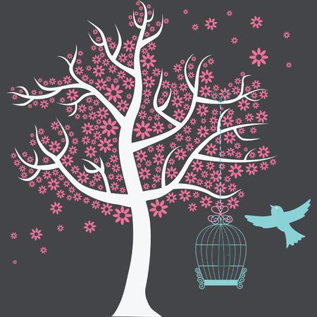 birdcage: Tree with Birdcage