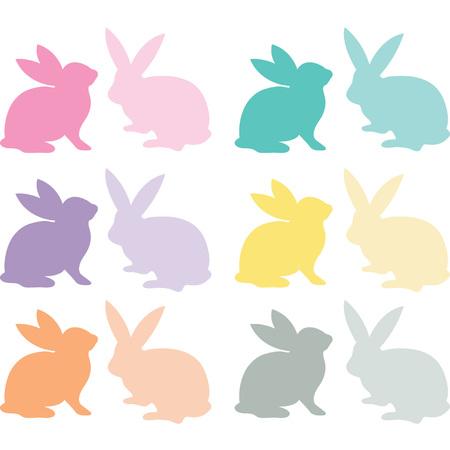 wild rabbit: Easter Bunny Silhouette Illustration