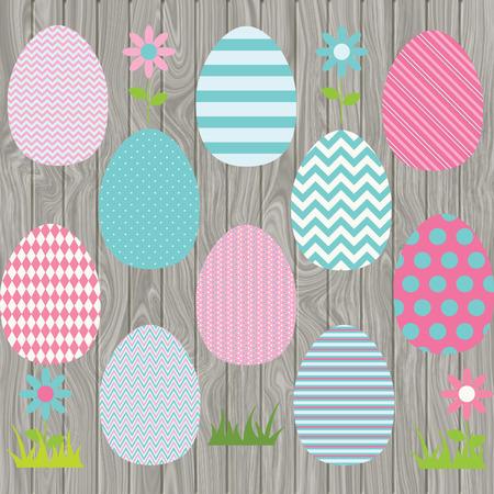 Easter Eggs Sammlungen Standard-Bild - 43899561
