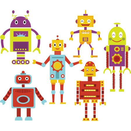 かわいいロボット  イラスト・ベクター素材