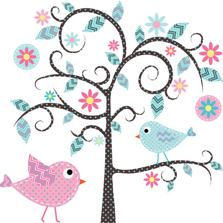 nursery room: Love Bird Tree