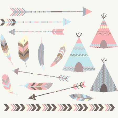 pis: Tee tribal Carpas pee Colecciones Vectores