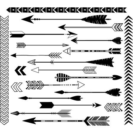 Black Arrow Clip Art Set Illusztráció