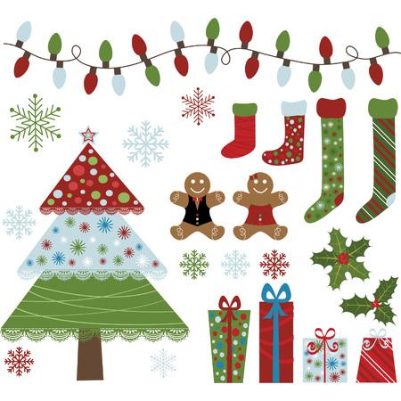 duendes de navidad: Navidad Diseño Elementos Colección Vectores