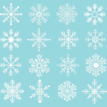 flakes: Snowflakes Silhouette set. Illustration