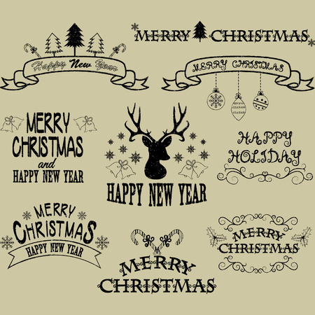 yaer: Merry Christmas Border Frames,Banner,Christmas Deer,Elements,Flourish Frame Collections