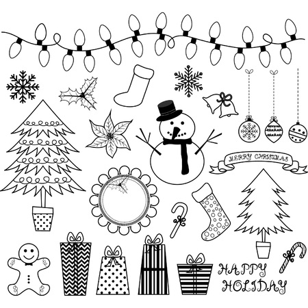 pine trees: Christmas Doodles Collections.