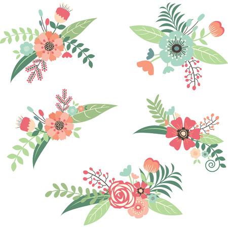 Wedding Flower Bouquet Set  イラスト・ベクター素材