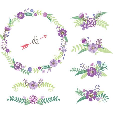 Bruiloft bloemen elementen