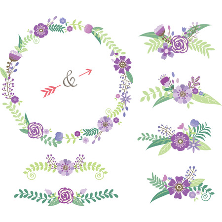Wedding Floral Elements Illustration