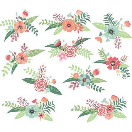 tarjeta de invitacion: Boda ramo de flores Set