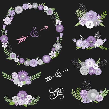 Chalkboard Wedding Floral Elements.